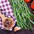 pimienta · cuchara · de · madera · ajo · hojas · chile · especias - foto stock © tycoon
