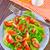 salata · tabağı · mutfak · havlu · yalıtılmış · beyaz - stok fotoğraf © tycoon