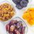 aszalt · mazsola · datolya · étel · gyümölcs · háttér - stock fotó © tycoon