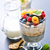 milk with chia seeds and berries stock photo © tycoon