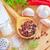 grano · de · pimienta · ajo · sal · marina · rústico · imagen · alimentos - foto stock © tycoon
