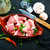 nyers · marhahús · vágódeszka · friss · fából · készült · fokhagyma - stock fotó © tycoon