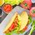 Shell · tres · tacos · blanco · placa - foto stock © tycoon