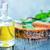 menta · olio · foglia · vetro · sfondo · bottiglia - foto d'archivio © tycoon