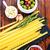углеводы · различный · сырой · пасты · деревянный · стол · кухне - Сток-фото © tycoon