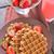 eper · waffle · fagylalt · gyümölcs · piros · tányér - stock fotó © tycoon