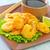 frutti · di · mare · insalata · line · sfondo · pollo · blu - foto d'archivio © tycoon