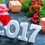 christmas · decoratie · tabel · gelukkig · klok · achtergrond - stockfoto © tycoon