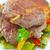 gebakken · vlees · aardappel · glas · plaat · voedsel - stockfoto © tycoon