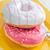 カラフル · ドーナツ · 孤立した · 白 - ストックフォト © tycoon