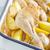 kurczaka · tabeli · mięsa · cytryny · widelec - zdjęcia stock © tycoon