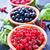 tál · bogyók · gyümölcsök · kék · reggeli · desszert - stock fotó © tycoon