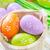 verde · easter · eggs · nido · satinato · nastro · piccolo - foto d'archivio © tycoon