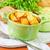 frito · patatas · rebanadas · tocino · mesa · de · madera · comer - foto stock © tycoon