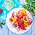 tyúk · nyárs · zöldségek · serpenyő · pörkölt · gombák - stock fotó © tycoon