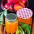 dulce · melocotón · hojas · hoja · frutas · rojo - foto stock © tycoon