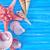 sea shells on blue board stock photo © tycoon