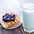ontbijt · vruchten · vak · Blauw · tijd · melk - stockfoto © tycoon