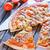 friss · pizza · papír · asztal · étel · fa - stock fotó © tycoon