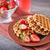 wafel · vruchten · chocolade · ijs · ontbijt · vork - stockfoto © tycoon