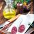 salame · tempero · conselho · comida · fundo - foto stock © tycoon
