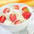 cottage · fragola · rosso · piatto · bianco · cucchiaio - foto d'archivio © tycoon