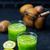 kiwi · zalamero · vidrio · mesa · primavera · manzana - foto stock © tycoon