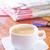 kahve · gazete · haber · gözlük · içmek · çalışma - stok fotoğraf © tycoon
