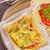 vegetarisch · pizza · handen · afrikaanse · vrouw · aubergine - stockfoto © tycoon