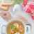 tyúk · húsleves · friss · zöldségek · snidling · étel · levél - stock fotó © tycoon