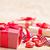 büyü · kutu · kırmızı · kalpler · hediye · kutusu · uçan - stok fotoğraf © tycoon