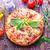 szeletel · egész · pepperoni · pizza · piros · vacsora - stock fotó © tycoon