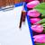 mooie · roze · tulpen · witte · papier · Blauw - stockfoto © tycoon