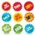 vector · kleurrijk · stickers · ingesteld · stijlvol · ontwerp - stockfoto © ultrapop