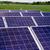 oppervlak · zonnepaneel · dak · blauwe · hemel · groene · bomen - stockfoto © ultrapro