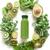 smoothie · verde · bandeja · kiwi · madeira · saúde · verde - foto stock © unikpix