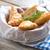 greek feta and spinach filo pastry triangles stock photo © unikpix