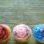 drie · verjaardag · ingericht · kleurrijk · kaarsen - stockfoto © unikpix