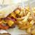Филадельфия · сыра · стейк · сэндвич · картофель · фри · Cola - Сток-фото © unikpix