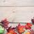 sonbahar · yaprakları · çerçeve · ahşap · doğa · arka · plan · turuncu - stok fotoğraf © unikpix