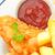 ryb · chipy · cytryny · pomidorów · ketchup · tablicy - zdjęcia stock © unikpix