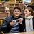 улыбаясь · любящий · пару · сидят · кафе - Сток-фото © unkreatives