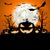 halloween · örnek · kötü · korkuluk · dolunay · vektör - stok fotoğraf © unkreatives