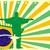 abstrato · geométrico · Brasil · bandeira · útil · cobrir - foto stock © unkreatives