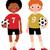 nino · futbolista · jugando · fútbol · eps10 · vector - foto stock © urchenkojulia