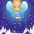 かわいい · ノーム · クリスマス · 1泊 · シーン · ベクトル - ストックフォト © urchenkojulia