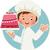 funny · torta · masculina · vector · Cartoon · fiesta - foto stock © urchenkojulia