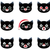cartoon vector smilies cats stock photo © urchenkojulia