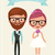 bride and groom hipsters stock photo © urchenkojulia