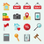 set of colored vector icons for web site real estate stock photo © urchenkojulia